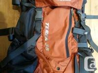 Marketing my North Face Terra 35 weekender pack as I