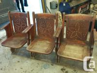 vintage theater seats out of island theater. aorund