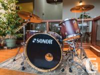 """This beautiful Sonor """"Force"""" drum kit has been"""