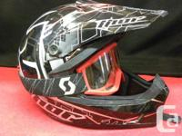 Thor motocross helmet youth size large with Scott