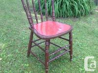 3 adorable vintage kitchen area chairs offer for sale.