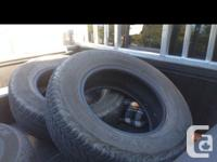 three Dunlop at20 grand trek tires, still have 50%