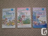 For sale three Fancy Nancy Reading Level 1 Books in