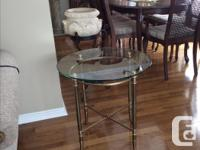 Three piece coffee table set. Coffee table, end table,