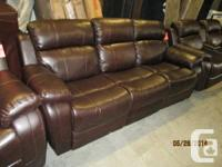 Three Seat Leather recliner sofa with right and left
