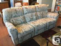 Couch has a recliner at both ends, no rips or tears.