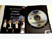 The original THREE TENORS London Digital DVD. Features: