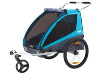 2 in 1 bike trailer. Converts to a stroller. 2 humans