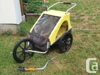 Thule chariot double jogger stroller and bike trailer