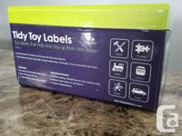 Tidy toy labels Attach with velcro to your bins