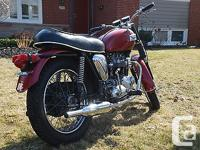 A 1969 Triumph TR6R Tiger 650, complete engine and