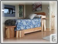 Timber and log beds crafted locally by family operated