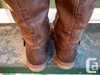 As New Condition Beautiful leather boots made by