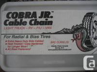 Tire Chains for Sale. Light Truck, Van, RV, P/U rated.