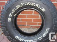 One - New LT 235 85 16 Goodyear $65 . One - New LT 235