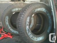 canadian tire P235-75 R 15   two new have small cut on