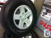 Tires and Rims -- fits a Jeep 07 Plus 5 bolt 17″