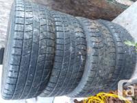 4 kumho 205 55 r 16 winter tires on rims and balanced