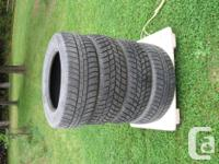 4 Hankook Winter season Tires, size 205/65R15/94T,