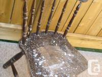 * 2 Solid Complete Wooden Chairs Needs refinishing, as