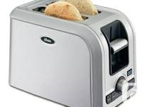Oster 2-slice retractable cord toaster, digital timer,
