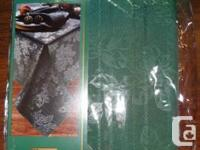 """Tobin Holiday Fabric Tablecloth 60""""X84"""" Oblong Green"""