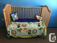 Great crib that converts to toddler bed, complete with