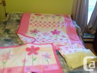 Toddler's bed, almost new, expresso colour, mattress,