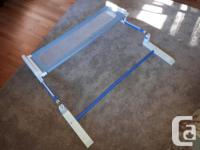 FREE! FREE! Adjustable height toddler bed rail in light