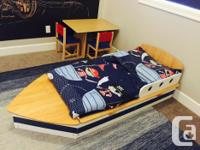 Super fun and stylish toddler boat bed - Made by
