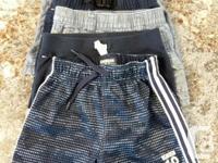 5 toddler boys shorts & 2 swim trunks 12-18 & 2 years