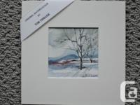 Up for sale two original watercolors by the listed