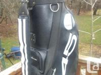 FOR SALE TOMMY ARMOUR LEATHER STAFF GOLF BAG LIKE NEW