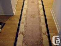 "Luxury carpet runner 2'3"" X 11'8"" or 68 cm x 356 cm,"
