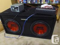 Top end subwoofer and power amp for sale. Inc Rockford