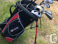 Top Flite RH Golf Clubs and Bag Set of Top Flite right