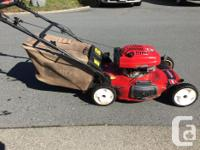 Toro 22'' personal pace mower ( self propel system )