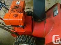 Toro 8 hp 26 inch cut, in great form for age has