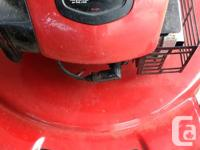 toro belt drive mower . 2 years old , serviced at