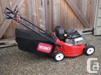 "Toro 21"" commercial mower. *Self propelled *Blade brake"