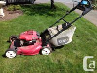 "Toro recycler 22"" lawnmower, 6.5 hp, self-propelled"