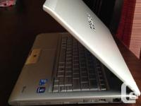 Toshiba Ultrabook very light weight and top of the