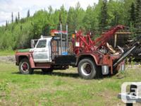 1971 F705 Tow Truck, 24,000 GVW. Establish for healing