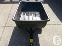 Heavy Duty Metal frame with plastic dump Towable Dump