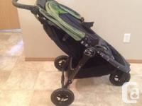 Child Jogger City Mini GT Stroller For Sale. Green/Gray