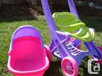 Toy Doll Stroller & Car Seat Combo -Excellent Condition