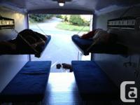 16' Customized Enclosed Trailer with RV Door Spray Foam