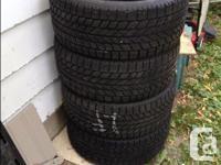 Selling 4 Toyo Observe Garit KX winter tires,225/50R17