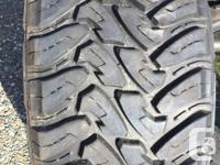Set of almost new Toyo Open Country M/T tires