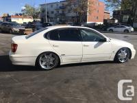 Make Toyota Model Aristo Year 1997 Colour white kms